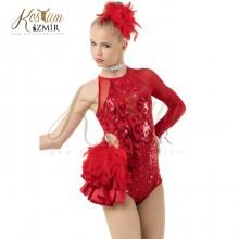 Ateş Cimnastik Dans Kostümü