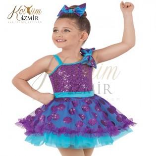 Mavi Mor Düşler Dans Kostümü